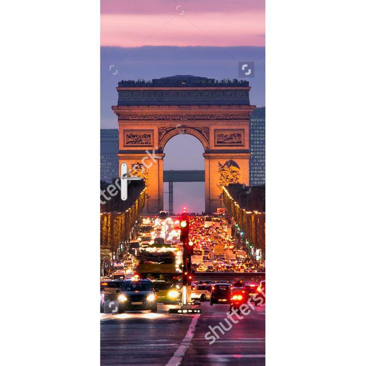 Deursticker Arc du Triomphe | Een deursticker is precies wat zo'n saaie deur nodig heeft! YouPri biedt deurstickers zowel mat als glanzend aan en ze zijn allemaal weerbestendig! Verkrijgbaar in verschillende afmetingen.   #deurstickers #deursticker #sticker #stickers #interieur #interieurprint #interieurdesign #foto #afbeelding #design #diy #weerbestendig #arcdutriomphe #parijs #frans #frankrijk #verkeer #wereldstad #architectuur