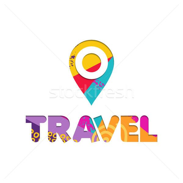 C Stock Quote Endearing Summer Vacation Travel Color Cutout Text Quote Stock Photo C