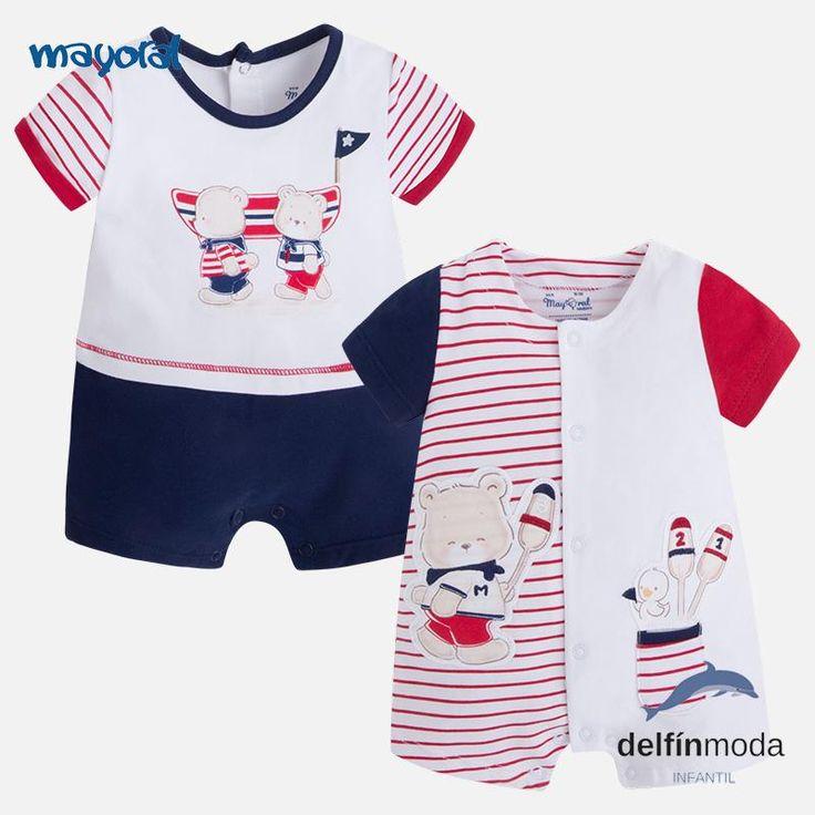 Set de dos peleles bebe MAYORAL Newborn combinados rojo marino