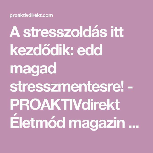 A stresszoldás itt kezdődik: edd magad stresszmentesre! - PROAKTIVdirekt Életmód magazin és hírek