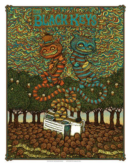 awesome indie music band posters | The Black Keys | 40 Awesome Concert Posters - Yahoo! Music