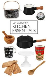 A kitchen full of cute, quirky, and retro-looking gizmos, gadgets and cooking ware can make cooking, baking, and entertaining more fun! If you love to spend time in the kitchen, add a few of these whimsical...