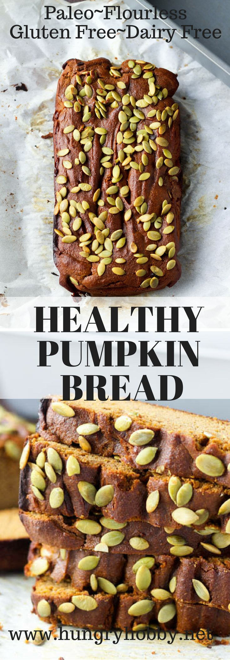 Flourless Pumpkin Bread is full of delicious sweet cinnamon pumpkin flavor that will rock your world! Tender, moist, and surrounded by a sweet crust. GF