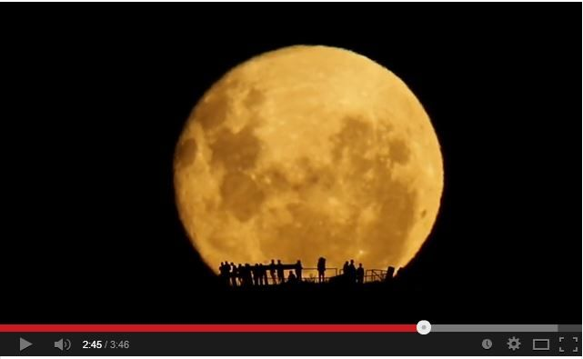 A still from a short film showing the full moon rising at Wellington, New Zealand. Incredible photography.