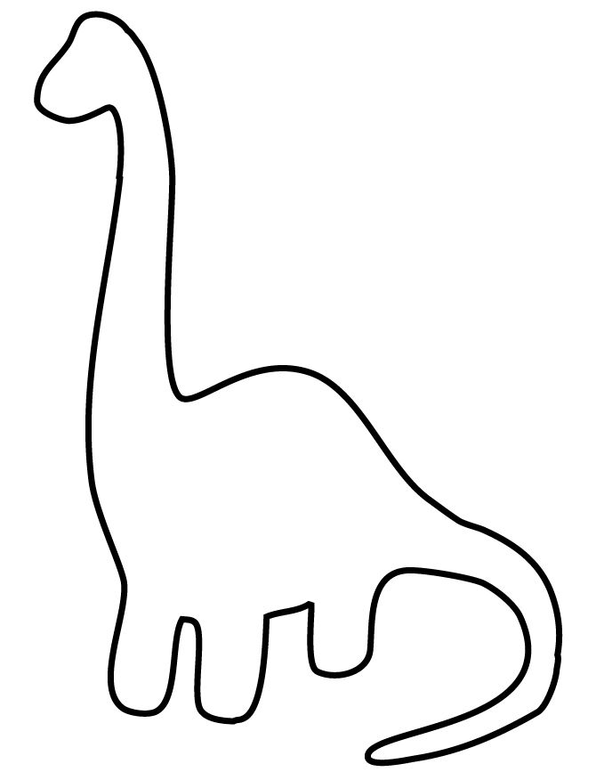 easy dinosaur for toddlers coloring page - Easy Colouring Pages