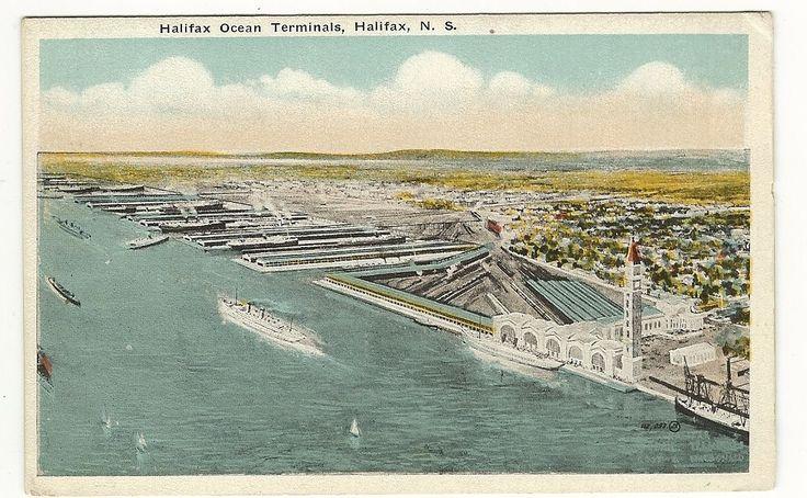 Halifax Ocean Terminals Halifax Nova Scotia Postcard | eBay