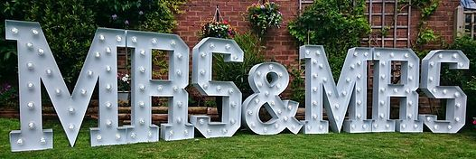 Hire MR & MRS Light Up Letters For Your Wedding | As Seen On BBC TV