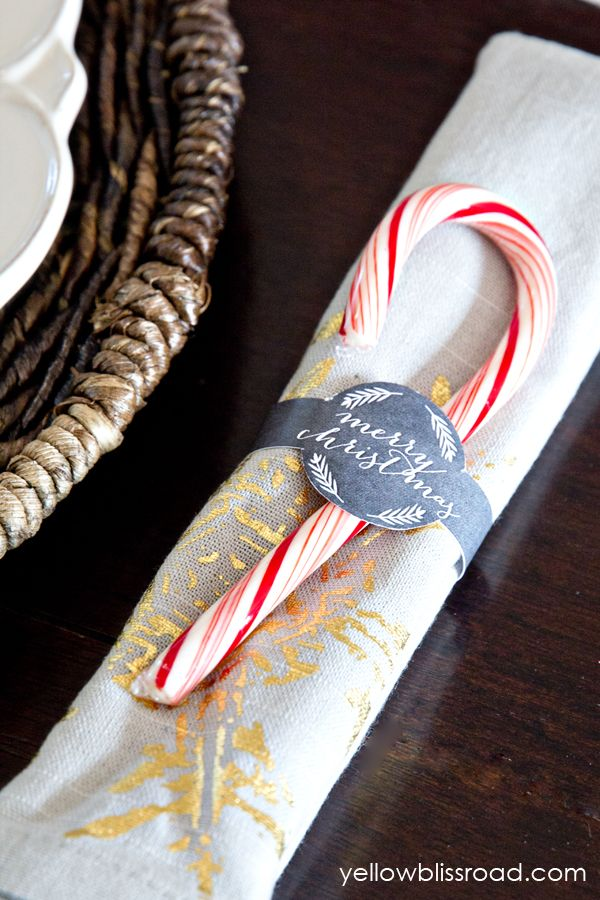 Coastal Xmas Napkin Rings