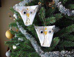 Snowy Owl Ornaments | AllFreeChristmasCrafts.com