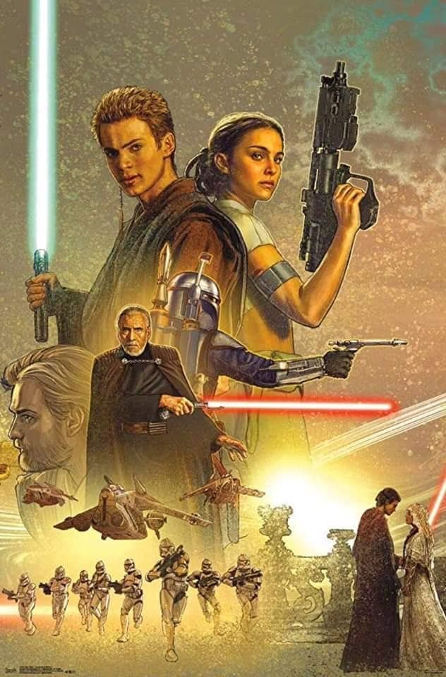 Attack Of The Clone Wars Star Wars Poster Star Wars Ii Star Wars Images