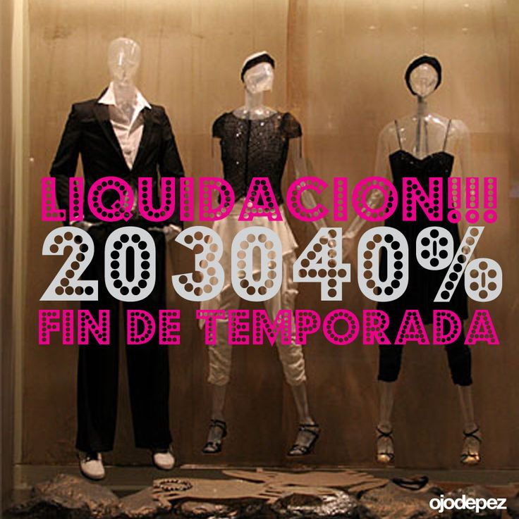 Vinilo Liquidación 011: Vinilos decorativos Liquidación Vinilos adhesivos vidrieras escaparates show window Window Display Wall Art Stickers wall stickers