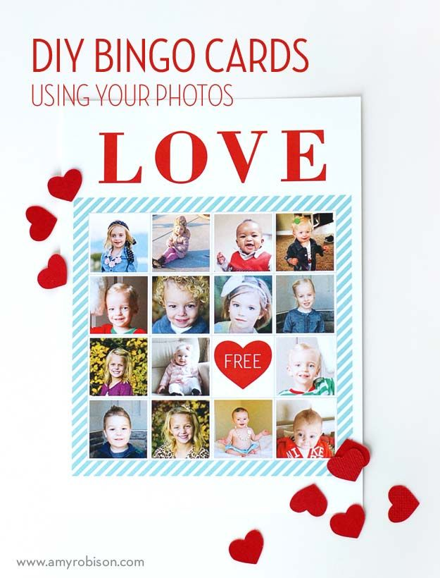 Make Your Own Valentine Photo Bingo Cards Using These Free