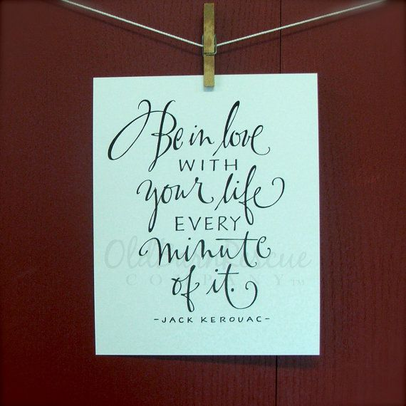 Hand Lettered Quote Typography Print Be in by OldBarnRescueCompany, $15.00