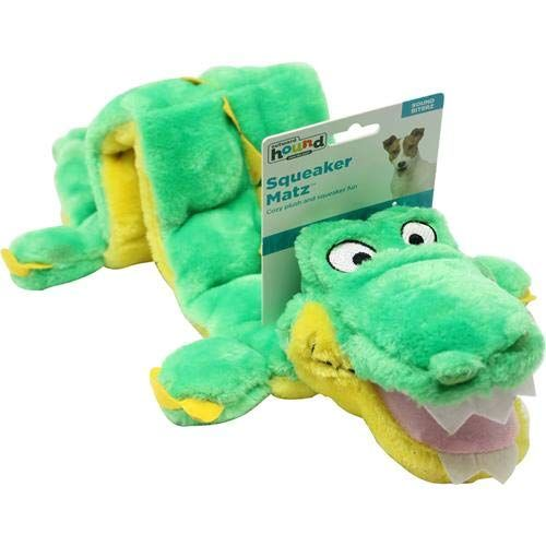 Kyjen Plush Puppies Alligator Squeaker Dog Toy 16 Squeakers
