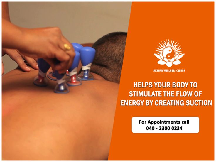 """An ancient form of alternative medicine in which a local suction is created on the skin; practitioners believe this mobilizes blood flow in order to promote healing. Try a session of cupping therapy with us and you will see the difference for yourself. #Wellness #Aksharwellness #Cupping"""""""