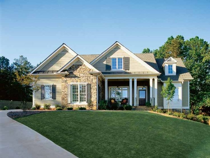 Eplans Bungalow House Plan - Trim and Stylish Home - 2917 Square Feet and 3 Bedrooms(s) from Eplans - House Plan Code HWEPL10553