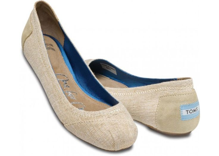 toms ballet flats!! must have in burlap!