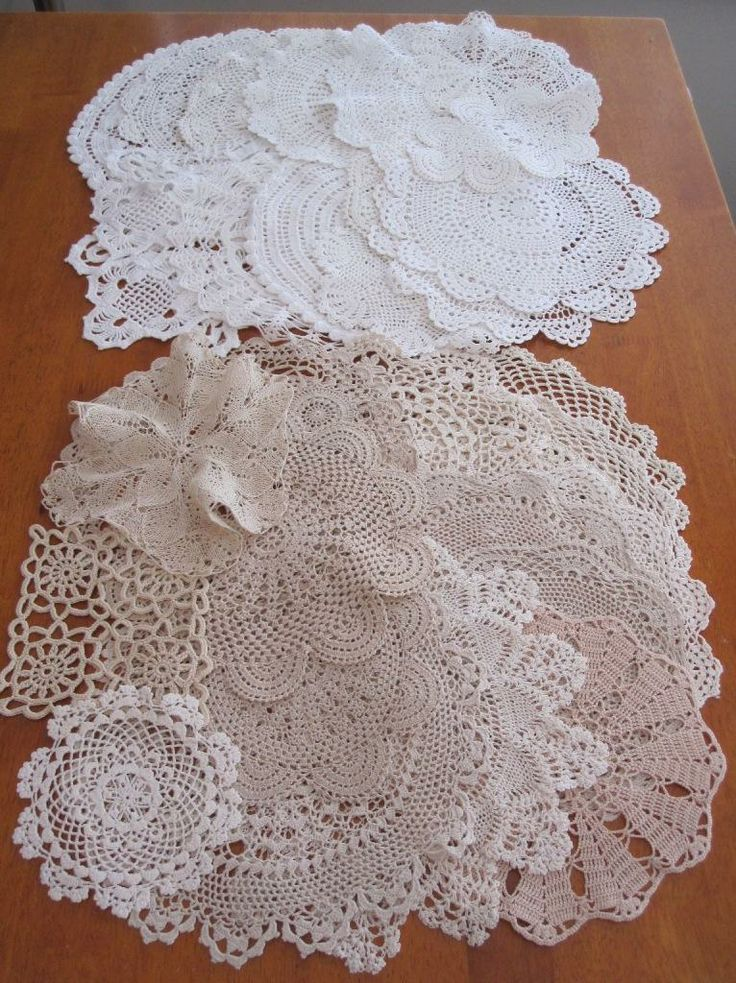 THIRTY Authentic Vintage Crochet Doilies Bulk Variety No Reserve in Antiques, Textiles, Linens, Lace, Crochet, Doilies | eBay SELLER ID: kathy_a1