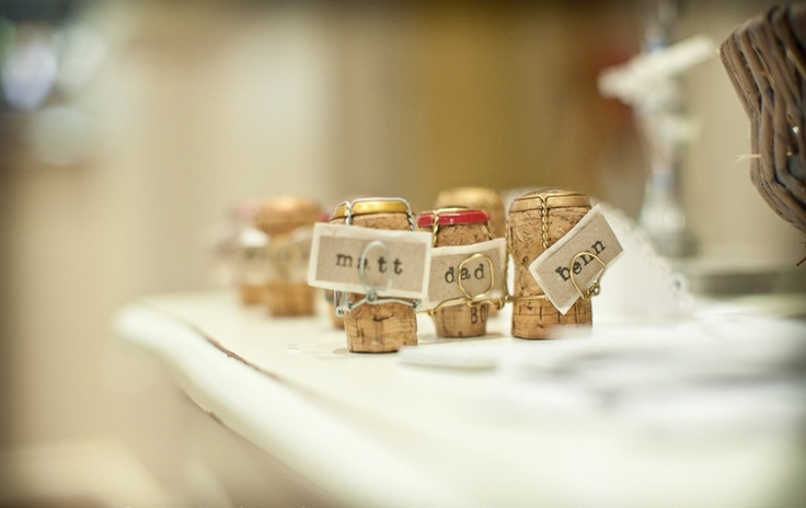 Homemade wedding place cards x