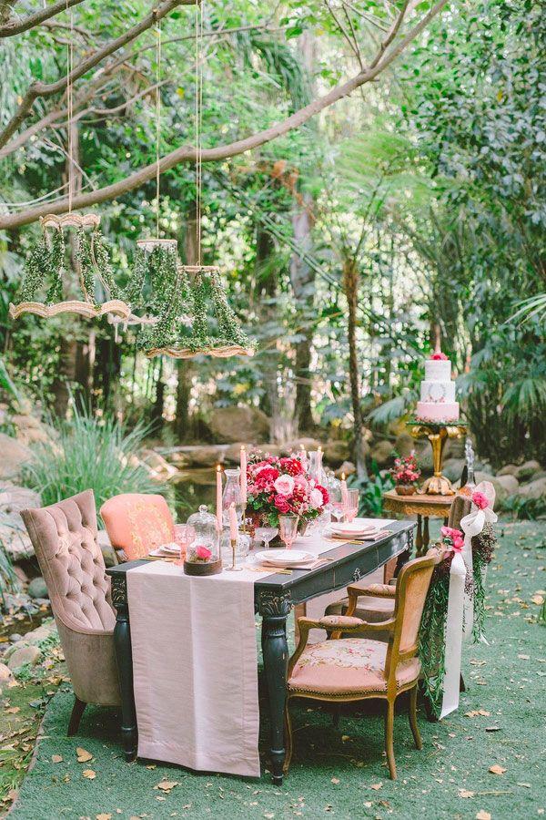 Uma linda festa no jardim