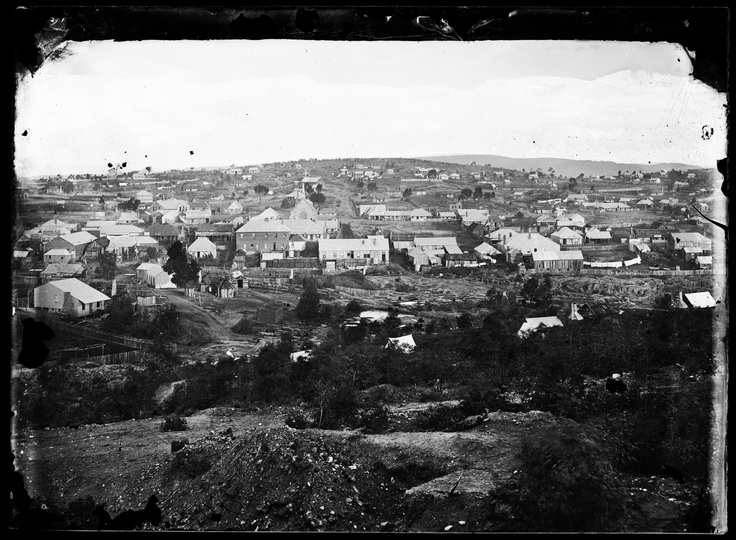 Panoramic view of Hill End, looking from Germantown in the west to the east / from the Holtermann collection at the State Library of NSW