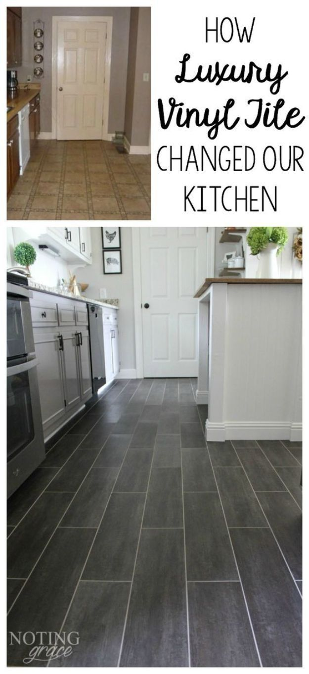 diy flooring projects - diy kitchen flooring - cheap floor