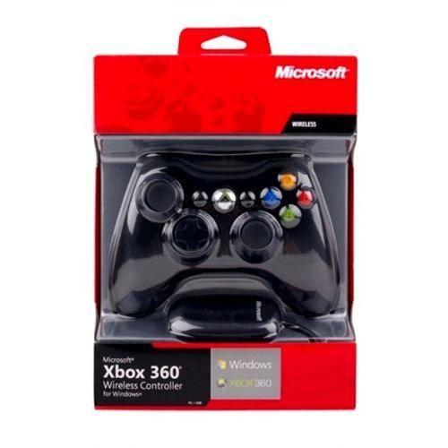 Controle Wireless Xbox 360 + Receiver Usb Para Pc - R$ 149,90 no MercadoLivre