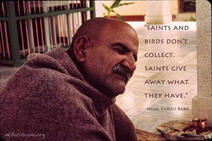 Sri Neem Karoli Baba. Talks about saints.