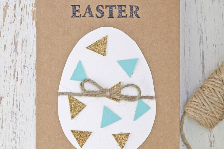 How to Make an Easy Easter Egg Card #CardMaking #Easter