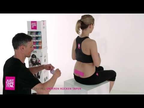 Rücken tapen Anleitung » Schritt für Schritt Kinesiologie Tape anlegen