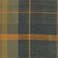 Tabafunda Mediterranean Blue Plaid Silk Drapery Fabric by Robert Allen