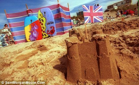 British seaside holiday. Get everyone involved - who can build the biggest sand castle?! #nutmegcomp