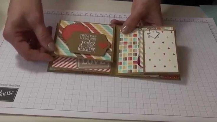 Workshop Tutorial Mini Album Stampin up= un tout mignon petit mini et son tuto  sur you tube