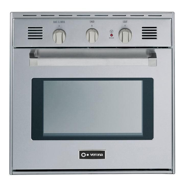 """Verona VEBIG24NSS 24"""" Single Wall Oven, in Stainless Steel"""