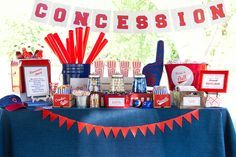 Baseball Party Food Ideas | The Homespun Hostess: Take me out to the Ball Game!