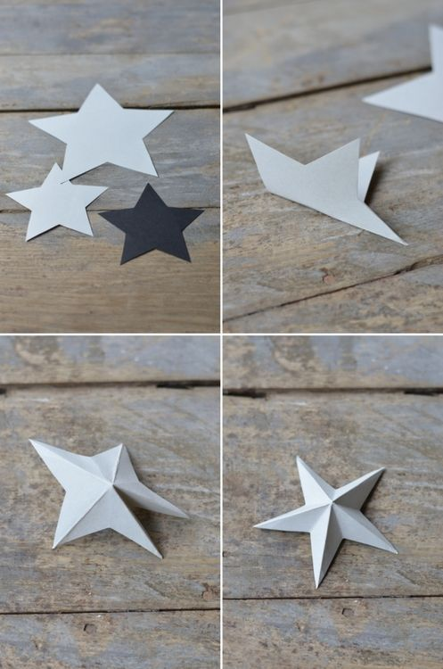 Как сделать из картона объемную звезду