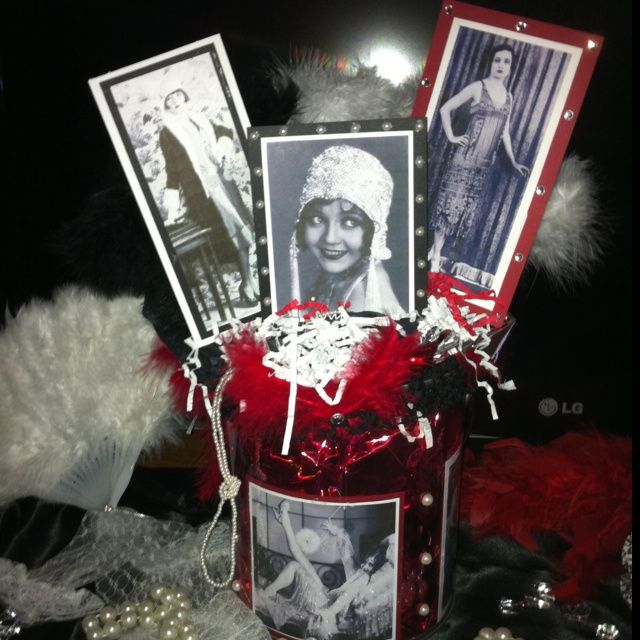 34 best images about 1920s center pieces and tables on for 20s party decoration ideas