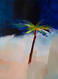 ROYAL PALM, acrylic painting on paper, 55 x 75 cm