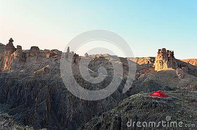 Sunrise at Charyn canyon, Kazakhstan