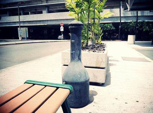 Smoking place at Honolulu International Airport