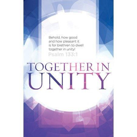Together in Unity (Psalm 133:1, KJV) Bulletins, 100