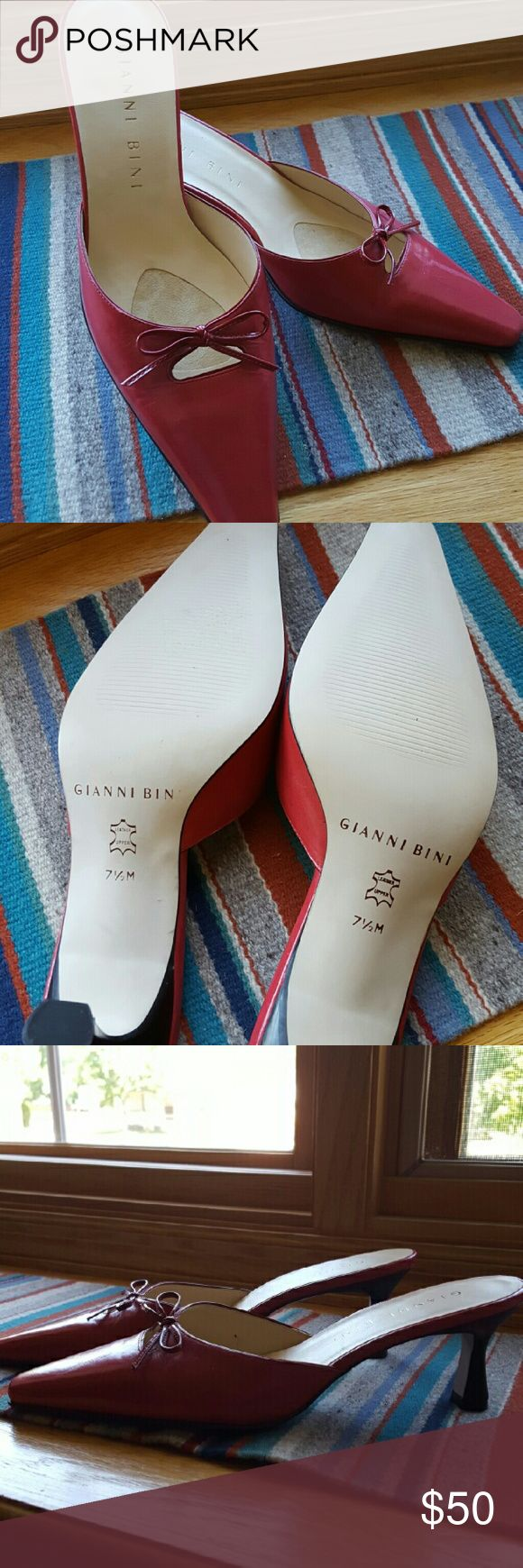Gianni Bini Italian shoes, slides Gorgeous pair or Italian shoes. Onky worn once. No wear at all. Very chic pair of classy shoes Gianni Bini Shoes Mules & Clogs