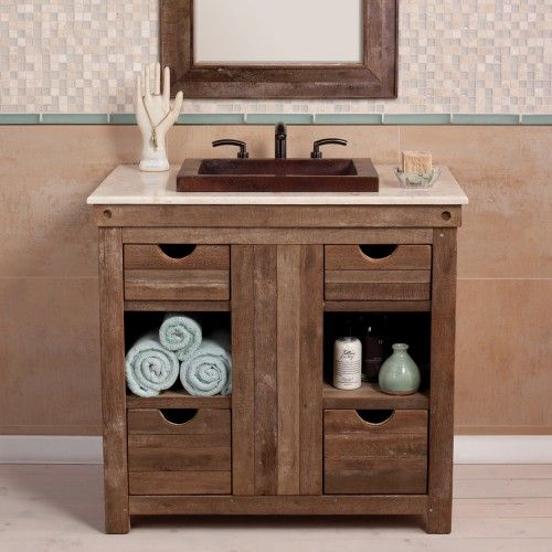 Love this rustic vanity faucetsnfixtures vanities we for Funky bathroom vanities