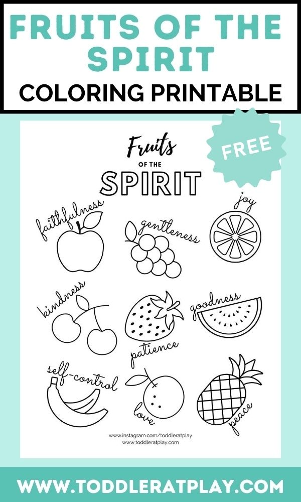 Fruits of the Spirit Coloring Printable   Fruit of the ...
