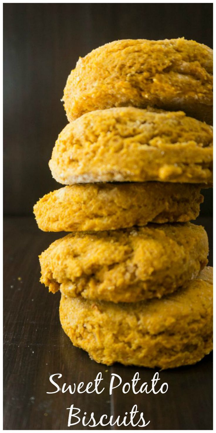 Tender, flaky, whole wheat biscuits made with sweet potato puree, make the perfect biscuit for a savory breakfast sandwich, to serve with a hearty soup, or just to eat with jam.