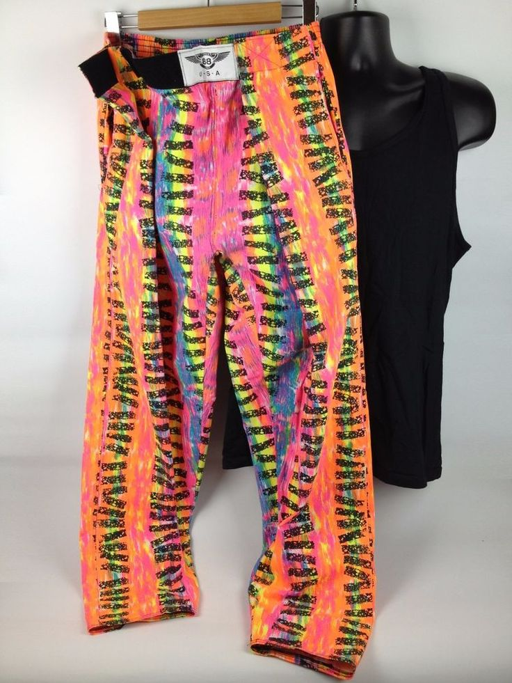Vintage 80s Muscle Pants Surfer Parachute Workout Neon Baggy New Wave MC Hammer  #SpeedLimit88 #Party