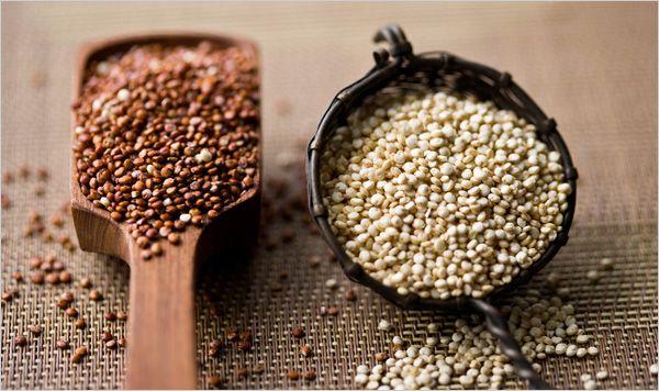 Quinoa: calcium, protein, iron, magnesium, vitamins A, B and E, gluten free.