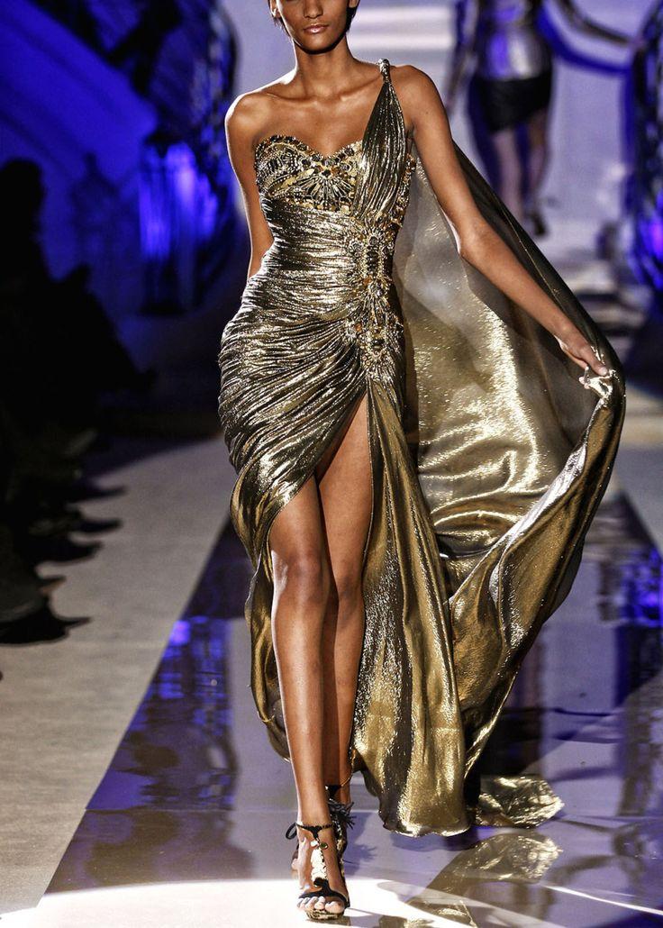 Z. Murad golden goddess  #trend #gowns #fashion #style #design #hautecouture #couture