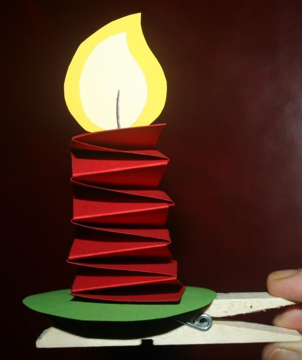 Candle Stick Craft - Jack Be Nimble Nursery Rhyme