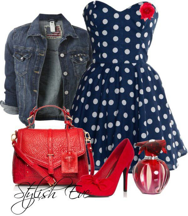Cute fourth of july❤️Adorable Punk / Rock outfit.